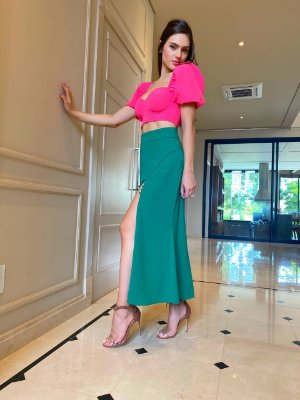 Cropped pink - cloude