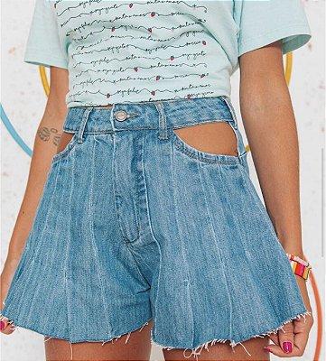Short jeans gode com abertura - alcance