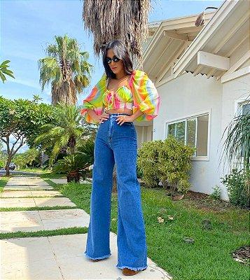Calça jeans pantalona - cloude