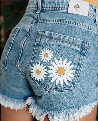 Short jeans girassol - alcance