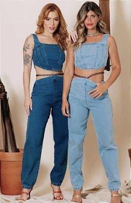 Calça jeans corrente - alcance