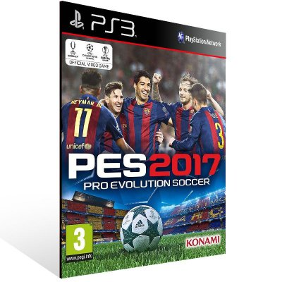 Pes 2017 - Ps3 Psn Mídia Digital