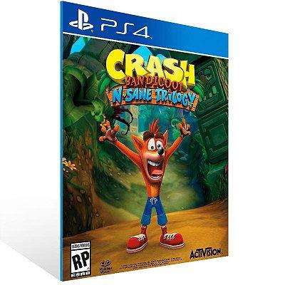 Crash Bandicoot N. Sane Trilogy - Ps4 Psn Mídia Digital