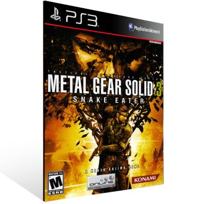 Metal Gear Solid 3 Snake Eater - Ps3 Psn Mídia Digital