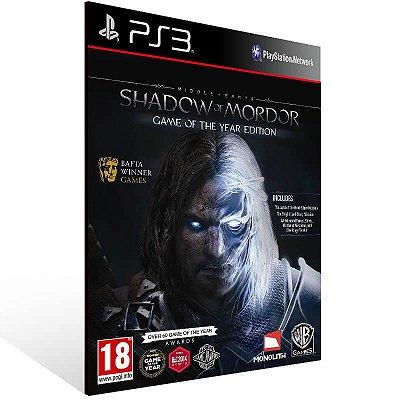 Shadow of Mordor Legion Edition - Ps3 Psn Mídia Digital