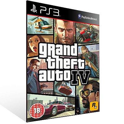 Grand Theft Auto 4 - Ps3 Psn Mídia Digital
