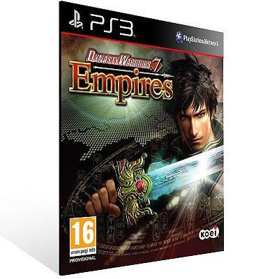Dynasty Warriors 7 Empires - Ps3 Psn Mídia Digital