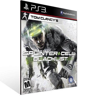 Tom Clancys Splinter Cell Blacklist - Ps3 Psn Mídia Digital