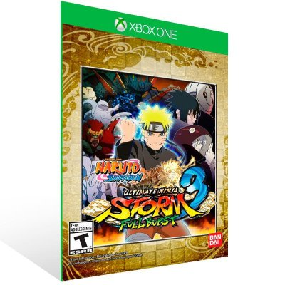 Naruto shippuden Ultimate Ninja STORM 3 Full Burst - Xbox One Live Mídia Digital