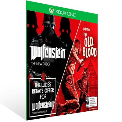 Wolfenstein: The Two Pack - Xbox One Live Mídia Digital