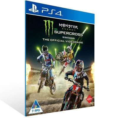 Monster Energy Supercross The Official Videogame - Ps4 Psn Mídia Digital