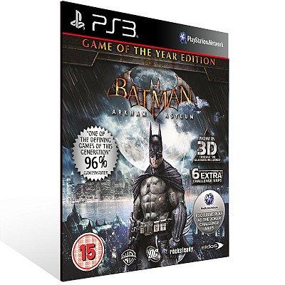 Batman Arkham Asylum - Ps3 Psn Midia Digital