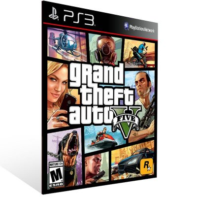 Grand Theft Auto V Gta 5 - Ps3 Psn Mídia Digital