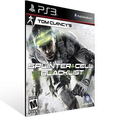 Splinter Cell Blacklist - Ps3 Psn Mídia Digital