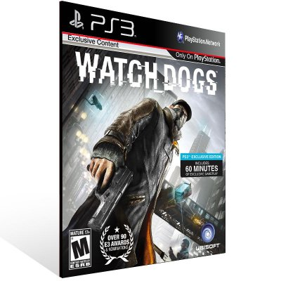 Watch Dogs - Ps3 Psn Mídia Digital