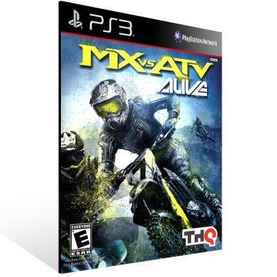 Mx Vs Atv Alive - Ps3 Psn Mídia Digital