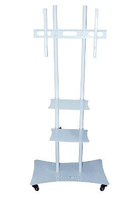 Suporte Tv Pedestal 22 -70 Pol Lcd Led Plasma Com Prateleira