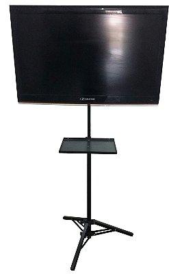 Suporte Pedestal Tripé Chão para TV/Monitor e Notebook/DVD