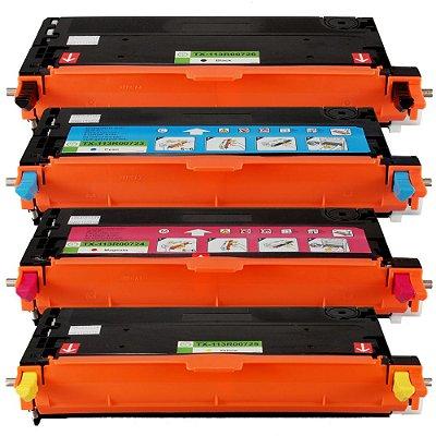 Kit 4 Toners Xerox Phaser Compatível 6180 6180DN 6180N 6180MFP