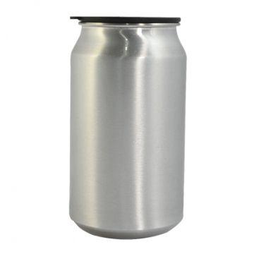 Latinha em Aluminio com Tampa - Prata 350ml