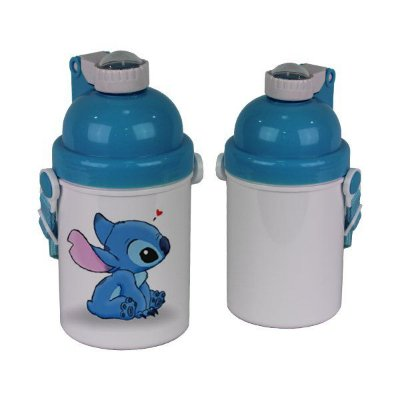 Garrafa Plastica Infantil Tipo Squeeze 500ml com Tampa - Azul