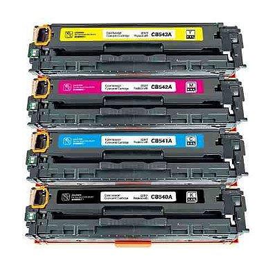 Kit 4 Toners Hp CP1215 CP1515 | 125a Bk/C/M/Y CB540 CB541 CB542 CB543 Compativeis