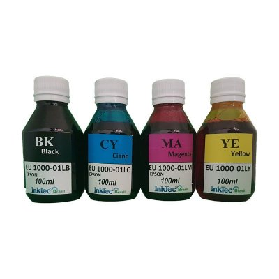Kit 400ml de Tinta InkTec para Epson UV 100ml de Cada Cor | 4 Cores