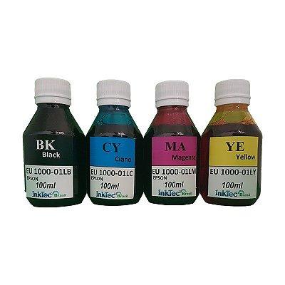 Kit 400ml de Tinta InkTec para Epson UV 100ml de Cada Cor | 4 Cores