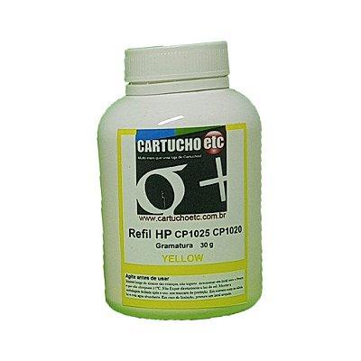 Refil para Toner HP 126A Amarelo CE312A - CP1025 CP1020 - 30g