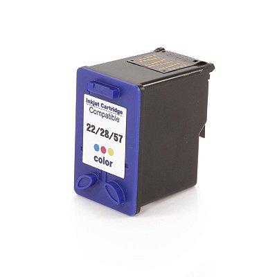 Cartucho HP 22/28/57 Colorido Compativel Microjet C8727AB C8727AL C8727A C8727CB