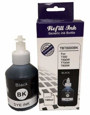 Refil de Tinta Compatível Brother TBT6000BK - 100ml - Preto