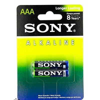 Pilha Alcalina Sony AAA (Palito) Cartela c/2 Pilhas - 01 Cartela