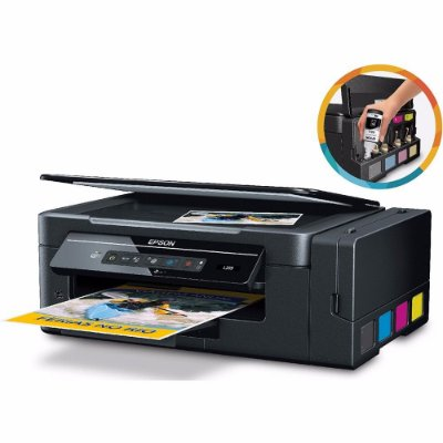 Impressora Multifuncional Epson EcoTank L396 - Tanque de Tinta WI-FI