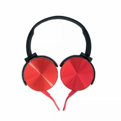 Fone de Ouvido com Microfone Extra Bass - Vermelho