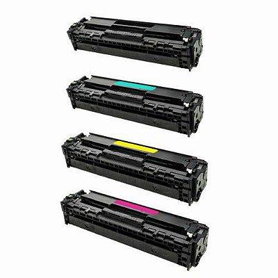 Kit 4 Toner Compatível HP 202A CF500A CF501A CF502A CF503A M281 M254