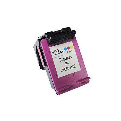 Cartucho Compatível HP 122XL Colorido Microjet 13ml