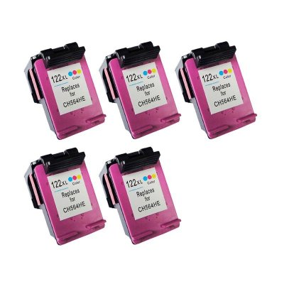 Kit 5 Cartuchos Hp 122XL Colorido Compativel Microjet 20ml no Atacado