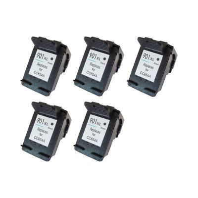 Kit 5 Cartuchos Hp 901XL Preto Compativel 20ml no Atacado