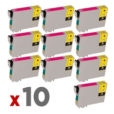 Kit 10 Cartuchos Epson TO63320 Magenta 17ml no Atacado T0633