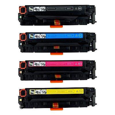 Kit 4 Toners Hp Pro 300 400 305a sendo 1 de cada Cor Compativeis CE410 CE411 CE412 CE413