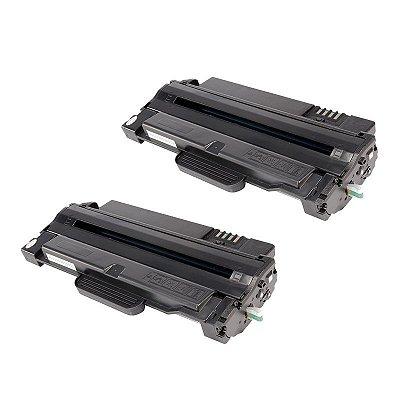 Kit 2 Toner Samsung D105 MLT-D105 Compatível ML1910 SCX4600 SCX4623