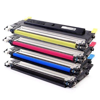 Kit 4 Toners Samsung CLP315 sendo 1 de cada Cor Compativeis CLT409 CLX-3170