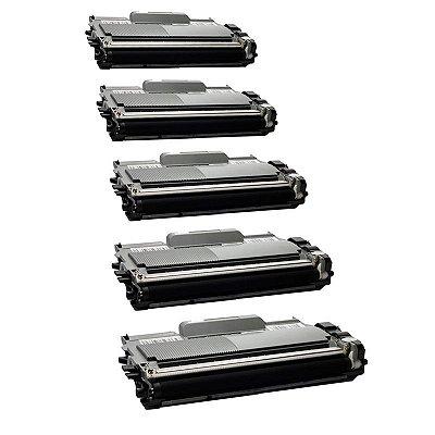 Kit com 5 Toner Brother TN450 Compativel TN-450 DCP7065 MFC7360 HL2240
