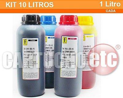Kit 10 Litros de Tinta Formulabs Hp Canon Lexmark Corante Monte seu Kit