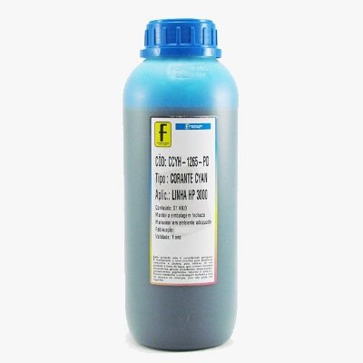 Tinta Formulabs HP IJD1265 Ciano | Azul Premium UV Serie Nova Hp 1 Litro
