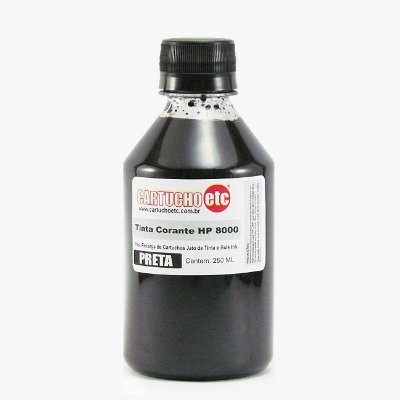 Tinta Formulabs HP Serie 8000 Corante Específica IJD2701 Preta 250ml
