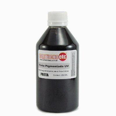 Tinta Inktec Pigmentada Epson E0007-01LB Preta 250ml Bulk Ink Transfer