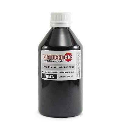 Tinta Inktec Pigmentada HP Serie 8000 H8940-01LB Preta 250ml