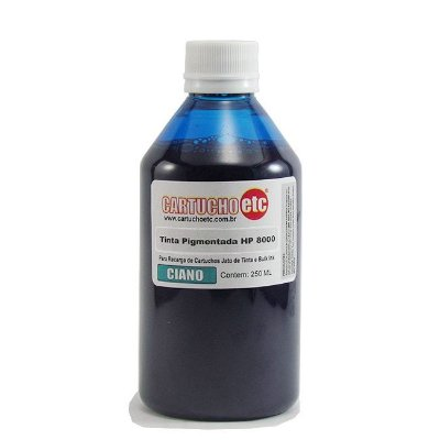 Tinta Inktec Pigmentada HP Serie 8000 H8940-01LC Ciano 250ml