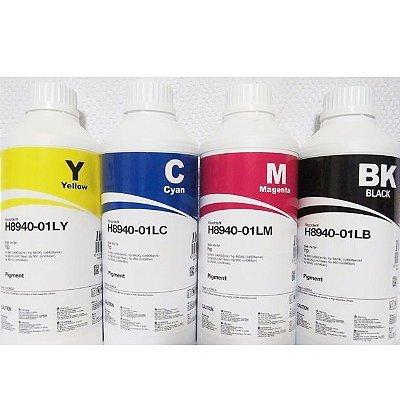 Kit 4 Litros de Tinta Inktec Pigmentada Hp Serie 8000 1 Litro de Cada Cor